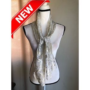 Accessories - Girls silver sheer scarf